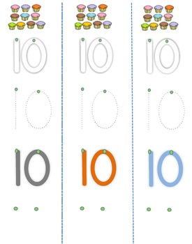 Step by Step Writing Numbers 1-10