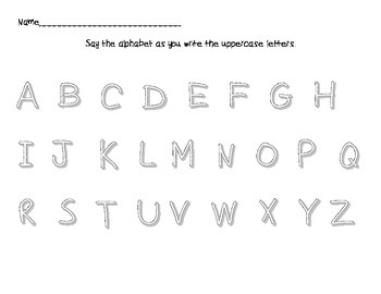 Scaffolded Alphabet Handwriting