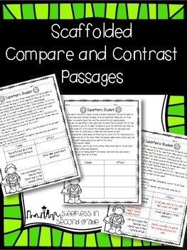 Scaffolded Compare and Contrast Passages