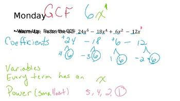 Scaffolded Do Nows for Factoring Trinomials