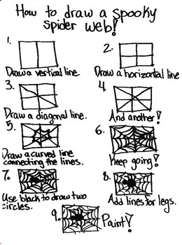 Scaffolded Drawing Directions of a Spider Web and Spider