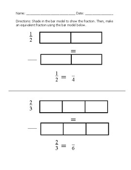 Scaffolded Equivalent Fraction Assessment with Models; Special Ed