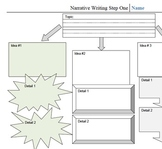 Scaffolded Graphic Organizers for Narrative Writing (above