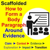 Scaffolded How to Form a Body Paragraph Around Evidence