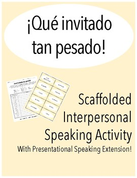 Scaffolded Interpersonal Speaking Activity in Spanish with Hotel Vocabulary
