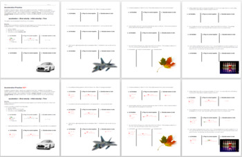 Scaffolded Kinematics Practice: Acceleration