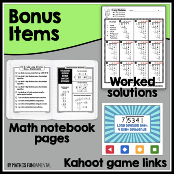 Scaffolded Long Division Practice Packet - 28 pages of differentiated problems