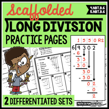 Scaffolded Long Division Practice Packet - 28 pages of dif