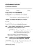 Scaffolded Math Notes: Rounding, Estimating, Adding