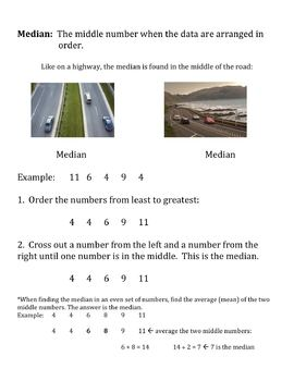Scaffolded Notes: Mean, Median, & Mode