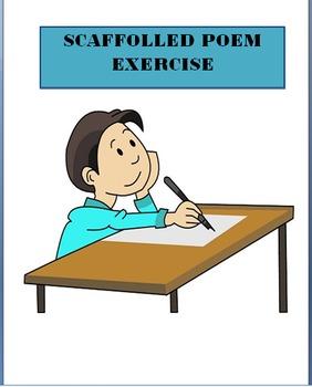 Scaffolded Poem Exercise-writing prompt, feeling exercise,