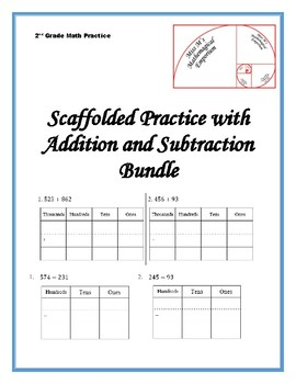 Scaffolded Practice with Addition and Subtraction Bundle