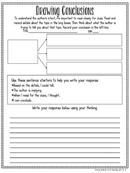 Scaffolded Reading Responses for Informational Text: great for notebooks!