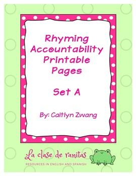 Scaffolded Rhyming Printables - Set A