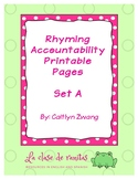 Scaffolded Rhyming Printables - Set A