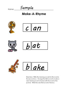 Scaffolded Rhyming Printables - Set B