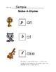Scaffolded Rhyming Printables - Sets A, B & C