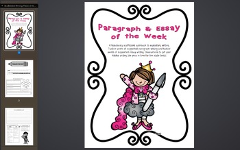 Scaffolded & STAAR-Aligned Expository Writing Piece of the Week