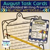 Scaffolded Story Starters for August and September