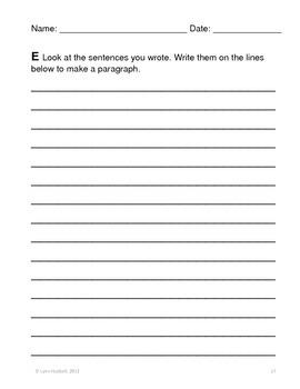 Scaffolded Writing Tasks
