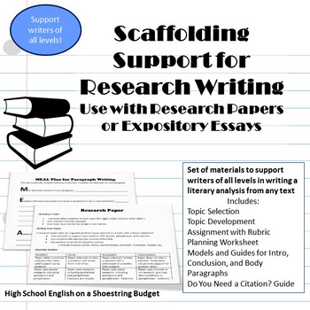 guide writing research paper high school
