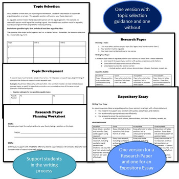 Scaffolding Support for Research Writing, Differentiate for Any Writer-WRD