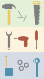 Scalable Customizable Tools Clip Art for PowerPoint