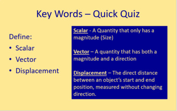 Scalars and Vectors - Full Lesson