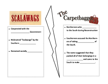 Scalawag and Carpetbagger Notes