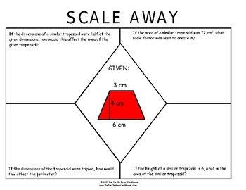 Scale Away effects on perimeter, area when dimensions are changed proportionally