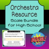 Scale Bundle for High School Orchestra (with audio!) Boom Cards
