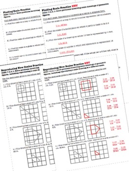 Scale & Construction Worksheets & Test - 7th Grade