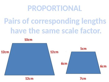 Scale Diagrams and Similar Figure Word Wall