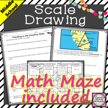 Scale Drawing Activity Traveling in the Sunshine State