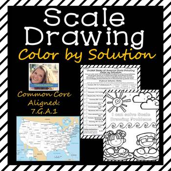 Scale Drawing Color By Solution