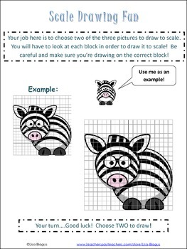 scale drawing examples practice worksheet fun project tpt