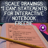 Scale Drawing I Can Statements for Interactive Notebook Freebie