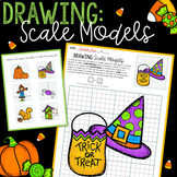 Scale Drawing Math Activity - NO PREP Halloween and Fall FUN
