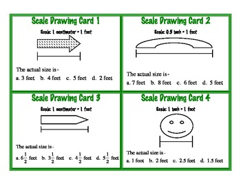Scale Drawing Task Cards Ratio Proportion Geometry Common