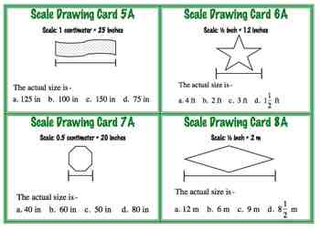 Scale Drawing Task Cards Ratio Proportion SET TWO Common Core 7.G.1
