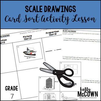 Scale Drawings Card Sort Activity Lesson