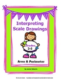 Scale Drawings: Area & Perimeter (Use Ruler)