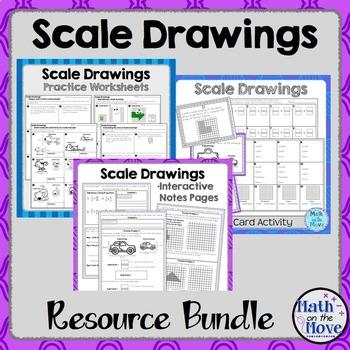 Scale Drawings - Bundle (7.G.1)