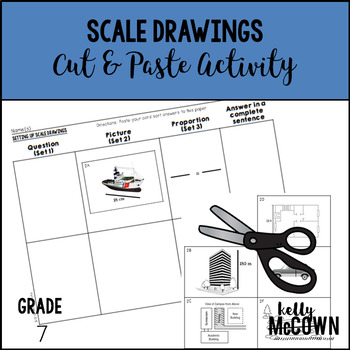 Scale Drawings Cut & Paste Activity