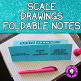 Scale Drawings Foldable Notes for Interactive Notebook