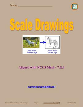 Scale Drawings Full Lesson Bundle - 7.G.1