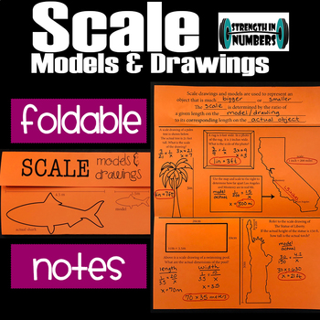 Scale Drawings & Models Foldable Notes Interactive Notebook