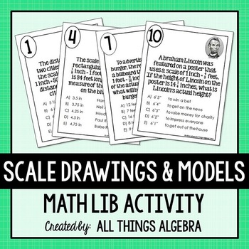 Scale Drawings and Models Math Lib