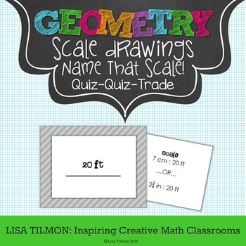 """Scale Drawings """"Name That Scale!' Quiz Quiz Trade Activity"""