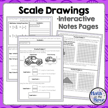Scale Drawings - Notes and Practice (7.G.1)